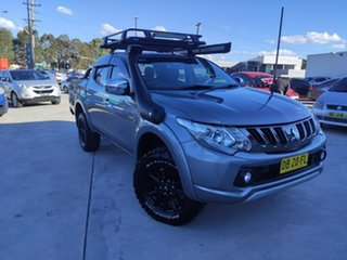 2017 Mitsubishi Triton MQ MY17 GLS Double Cab Grey 6 Speed Manual Utility.