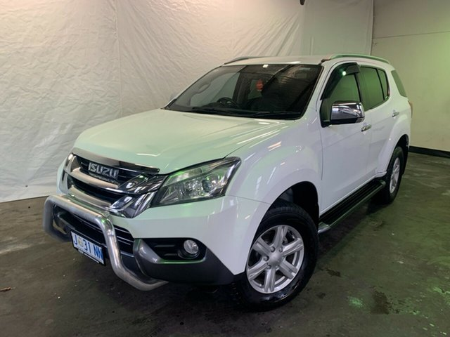 Used Isuzu MU-X MY14 LS-T Rev-Tronic Launceston, 2014 Isuzu MU-X MY14 LS-T Rev-Tronic White 5 Speed Sports Automatic Wagon