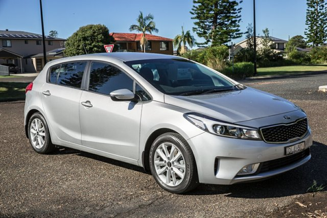 Used Kia Cerato YD MY17 S Premium Port Macquarie, 2016 Kia Cerato YD MY17 S Premium Silky Silver 6 Speed Sports Automatic Hatchback
