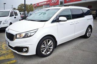 2018 Kia Carnival YP MY18 Platinum White 6 Speed Sports Automatic Wagon.