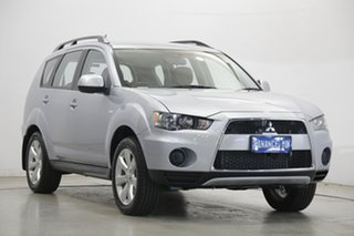 2010 Mitsubishi Outlander ZH MY10 LS Cool Silver 6 Speed Constant Variable Wagon.