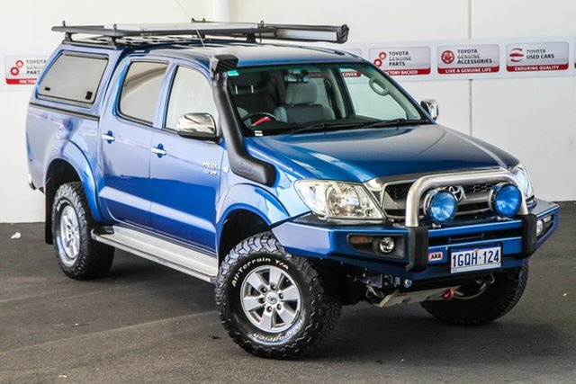 Pre-Owned Toyota Hilux GGN25R MY11 Upgrade SR5 (4x4) Rockingham, 2011 Toyota Hilux GGN25R MY11 Upgrade SR5 (4x4) Blue Metallic 5 Speed Automatic Dual Cab Pick-up