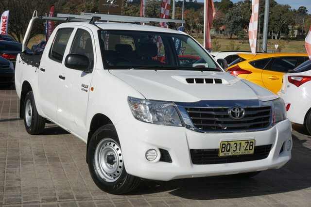 Used Toyota Hilux KUN16R MY12 SR Double Cab 4x2 Phillip, 2012 Toyota Hilux KUN16R MY12 SR Double Cab 4x2 White 5 Speed Manual Utility