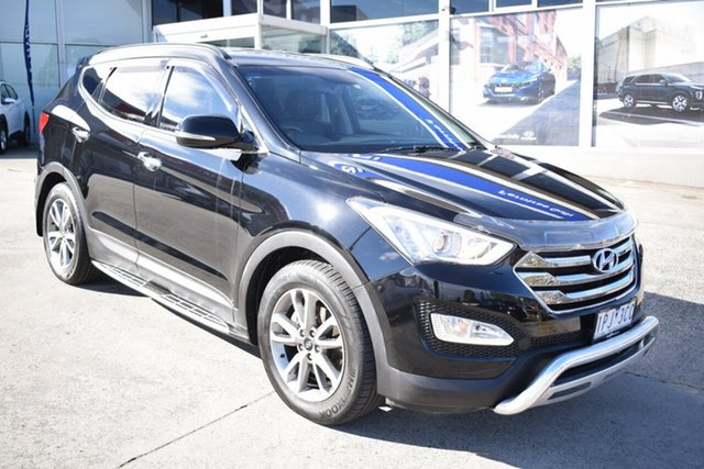 Used Hyundai Santa Fe DM MY14 Elite Ferntree Gully, 2014 Hyundai Santa Fe DM MY14 Elite Black 6 Speed Sports Automatic Wagon