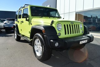 2016 Jeep Wrangler JK MY17 Unlimited Sport Hypergreen Clear Coat 5 Speed Automatic Softtop