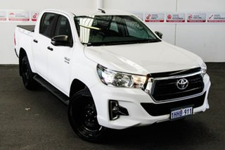 2018 Toyota Hilux GUN126R SR5 Double Cab Glacier White 6 Speed Sports Automatic Utility.