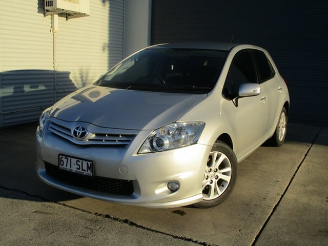 Used Toyota Corolla ZRE152R MY11 Ascent Caboolture, 2012 Toyota Corolla ZRE152R MY11 Ascent Silver 6 Speed Manual Hatchback