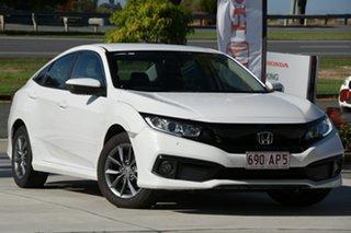 2019 Honda Civic 10th Gen MY19 VTi-S White 1 Speed Constant Variable Sedan.