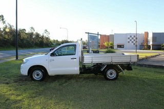 2010 Toyota Hilux KUN16R MY10 SR 4x2 White 5 Speed Manual Cab Chassis
