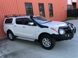 2012 Mazda BT-50 UP0YF1 GT White 6 Speed Sports Automatic Utility