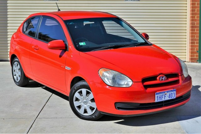 Used Hyundai Accent MC MY07 SLX Mount Lawley, 2008 Hyundai Accent MC MY07 SLX Red 5 Speed Manual Hatchback