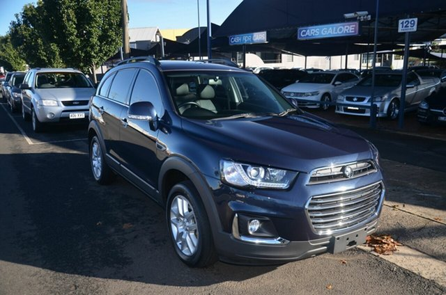Used Holden Captiva CG MY16 Active 7 Seater Toowoomba, 2017 Holden Captiva CG MY16 Active 7 Seater Blue 6 Speed Automatic Wagon