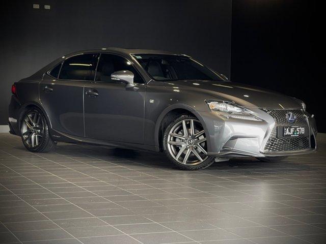Used Lexus IS AVE30R IS300h F Sport Moorabbin, 2015 Lexus IS AVE30R IS300h F Sport Grey 1 Speed Constant Variable Sedan Hybrid