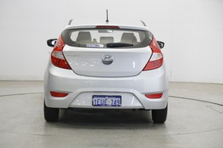 2015 Hyundai Accent RB2 MY15 Active Silver 4 Speed Sports Automatic Hatchback