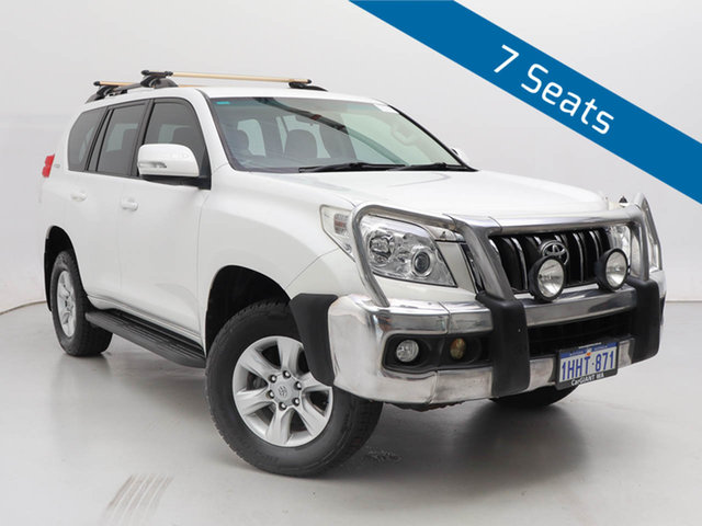 Used Toyota Landcruiser Prado KDJ150R 11 Upgrade GXL (4x4), 2011 Toyota Landcruiser Prado KDJ150R 11 Upgrade GXL (4x4) White 5 Speed Sequential Auto Wagon