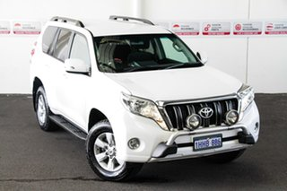 2016 Toyota Landcruiser Prado GDJ150R MY16 GXL (4x4) Glacier White 6 Speed Manual Wagon.