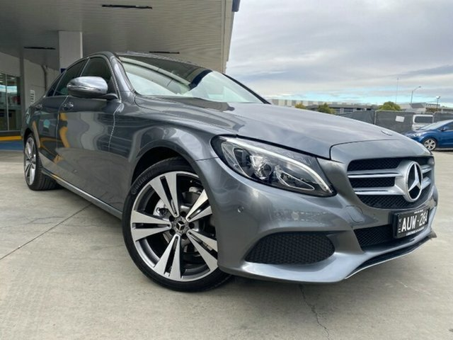 Used Mercedes-Benz C-Class W205 808MY C200 9G-Tronic Ravenhall, 2018 Mercedes-Benz C-Class W205 808MY C200 9G-Tronic Grey 9 Speed Sports Automatic Sedan