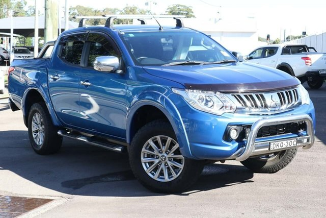 Used Mitsubishi Triton MQ MY16 GLS Double Cab North Gosford, 2016 Mitsubishi Triton MQ MY16 GLS Double Cab Blue 5 Speed Sports Automatic Utility