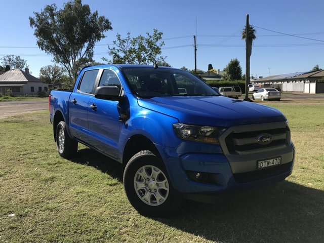 Pre-Owned Ford Ranger PX MkII XLS Double Cab Moree, 2017 Ford Ranger PX MkII XLS Double Cab Blue 6 Speed Sports Automatic Utility