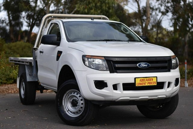 Used Ford Ranger PX XL Hi-Rider Melrose Park, 2014 Ford Ranger PX XL Hi-Rider White 6 Speed Sports Automatic Cab Chassis