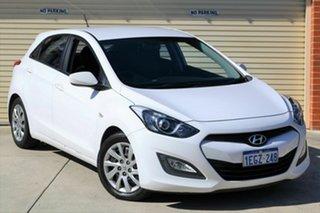 2013 Hyundai i30 GD Active White 6 Speed Manual Hatchback.