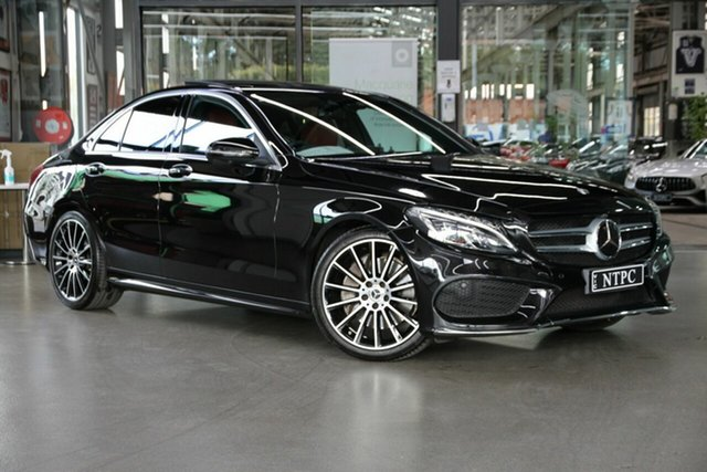 Used Mercedes-Benz C-Class W205 809MY C300 9G-Tronic North Melbourne, 2018 Mercedes-Benz C-Class W205 809MY C300 9G-Tronic Black 9 Speed Sports Automatic Sedan