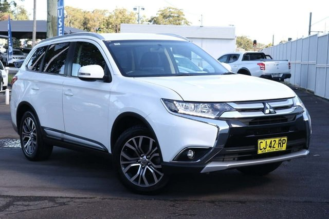 Used Mitsubishi Outlander ZK MY16 LS 2WD North Gosford, 2016 Mitsubishi Outlander ZK MY16 LS 2WD White 6 Speed Constant Variable Wagon