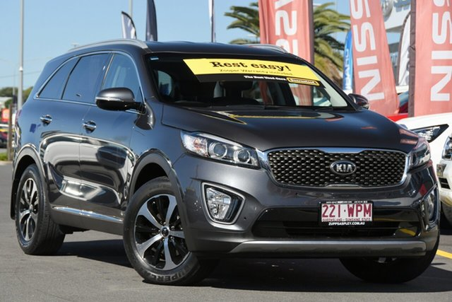 Used Kia Sorento UM MY16 SLi AWD Aspley, 2016 Kia Sorento UM MY16 SLi AWD Grey 6 Speed Sports Automatic Wagon