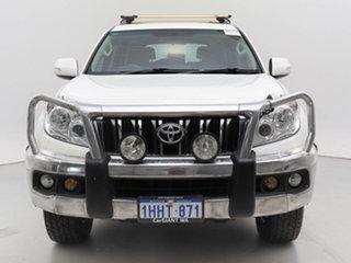 2011 Toyota Landcruiser Prado KDJ150R 11 Upgrade GXL (4x4) White 5 Speed Sequential Auto Wagon.