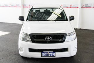 2010 Toyota Hilux GGN15R MY11 Upgrade SR Super White 5 Speed Automatic X Cab Pickup.