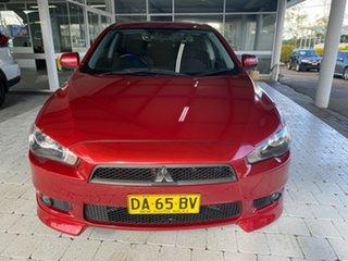 2009 Mitsubishi Lancer VR-X Red Constant Variable Sedan.