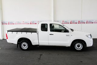 2010 Toyota Hilux GGN15R MY11 Upgrade SR Super White 5 Speed Automatic X Cab Pickup