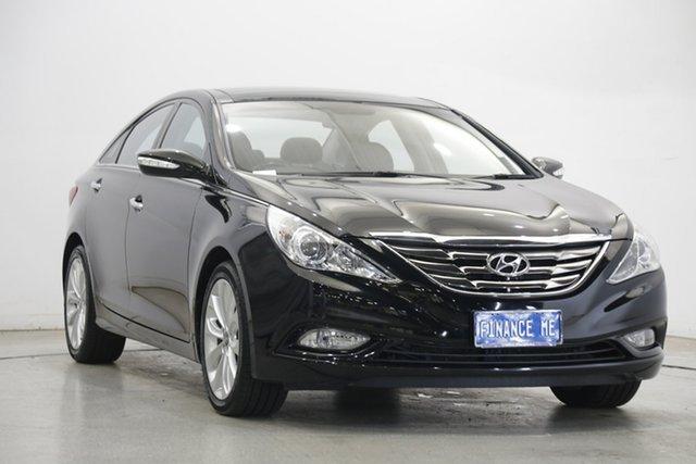 Used Hyundai i45 YF MY11 Premium Victoria Park, 2011 Hyundai i45 YF MY11 Premium Black 6 Speed Sports Automatic Sedan