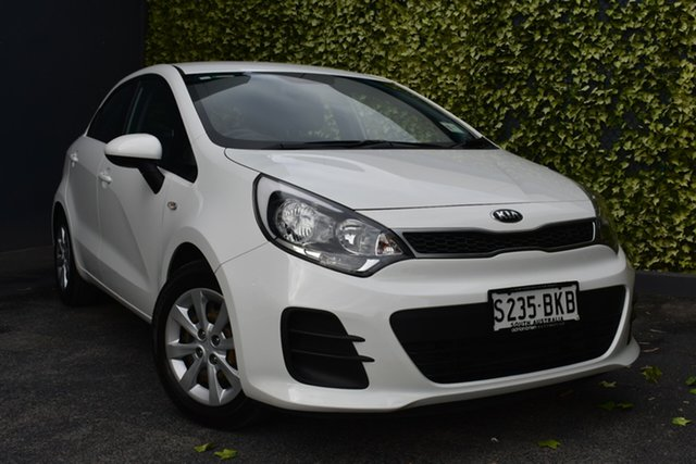Used Kia Rio UB MY15 S St Marys, 2015 Kia Rio UB MY15 S White 6 Speed Manual Hatchback