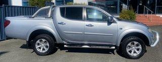 2014 Mitsubishi Triton MN MY15 GLX-R Double Cab Silver 5 Speed Manual Utility.