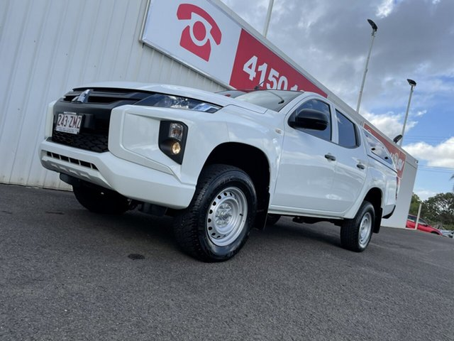 Used Mitsubishi Triton MR MY19 GLX Double Cab ADAS Bundaberg, 2019 Mitsubishi Triton MR MY19 GLX Double Cab ADAS White 6 Speed Sports Automatic Utility