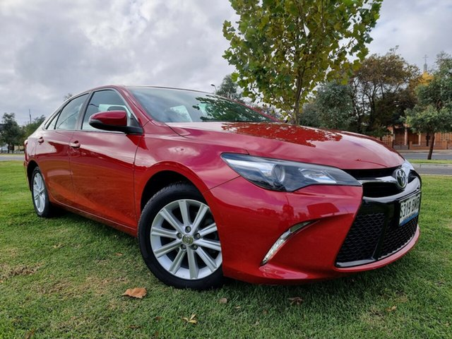 Used Toyota Camry ASV50R Atara S Hindmarsh, 2015 Toyota Camry ASV50R Atara S Red/Black 6 Speed Sports Automatic Sedan