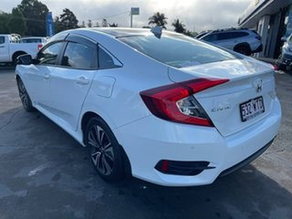 2016 Honda Civic 10th Gen MY16 VTi-L White 1 Speed Constant Variable Sedan