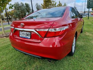 2015 Toyota Camry ASV50R Atara S Red/Black 6 Speed Sports Automatic Sedan.