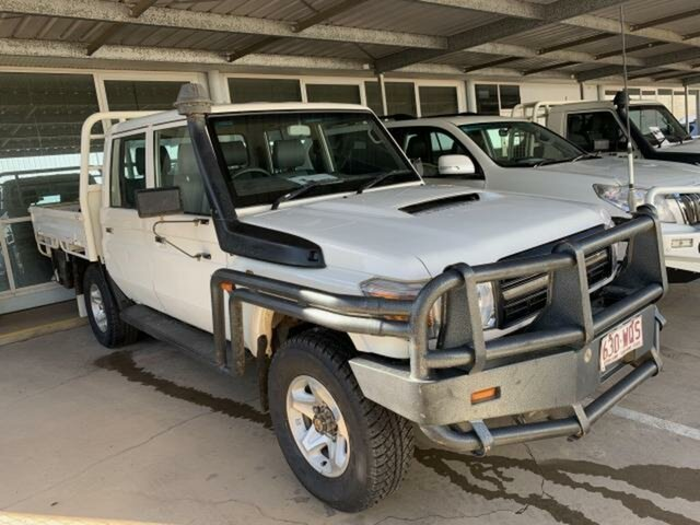 Used Toyota Landcruiser LC70 VDJ79R MY17 Workmate (4x4) Emerald, 2016 Toyota Landcruiser LC70 VDJ79R MY17 Workmate (4x4) White 5 Speed Manual Double Cab Chassis