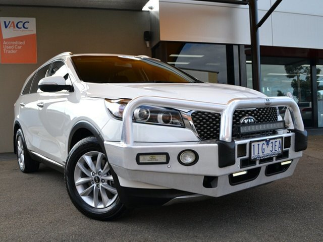 Used Kia Sorento UM MY16 Si AWD Fawkner, 2016 Kia Sorento UM MY16 Si AWD White 6 Speed Sports Automatic Wagon