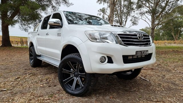 Used Toyota Hilux KUN26R MY14 SR5 Double Cab Nuriootpa, 2014 Toyota Hilux KUN26R MY14 SR5 Double Cab White 5 Speed Automatic Utility
