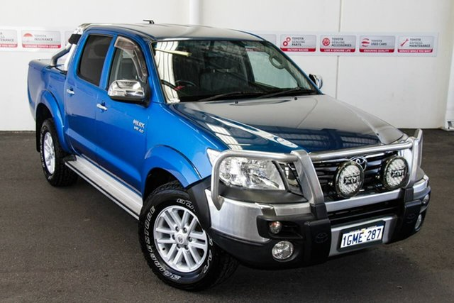 Pre-Owned Toyota Hilux GGN25R MY12 SR5 (4x4) Rockingham, 2012 Toyota Hilux GGN25R MY12 SR5 (4x4) Tidal Blue 5 Speed Automatic Dual Cab Pick-up