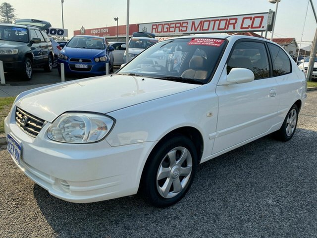 Used Hyundai Accent LS 1.6 Victoria Park, 2006 Hyundai Accent LS 1.6 White 4 Speed Automatic Hatchback