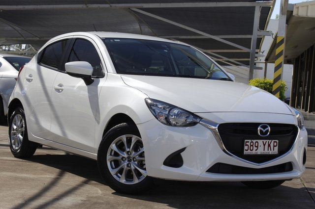 Used Mazda 2 DJ2HA6 Maxx SKYACTIV-MT Bundamba, 2017 Mazda 2 DJ2HA6 Maxx SKYACTIV-MT White 6 Speed Manual Hatchback
