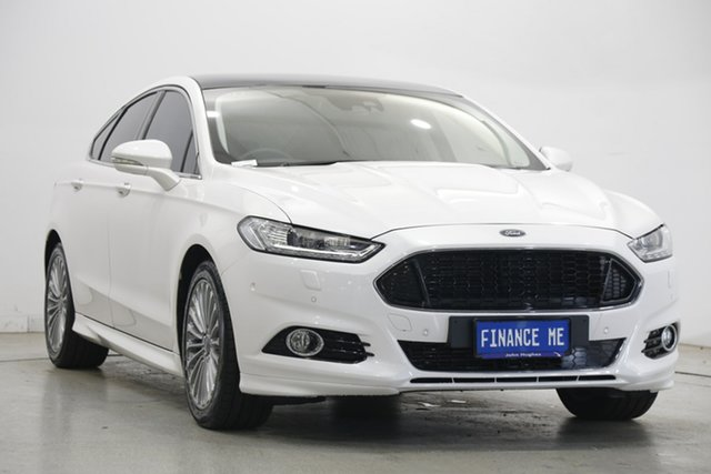 Used Ford Mondeo MD Titanium Victoria Park, 2016 Ford Mondeo MD Titanium White 6 Speed Sports Automatic Dual Clutch Hatchback