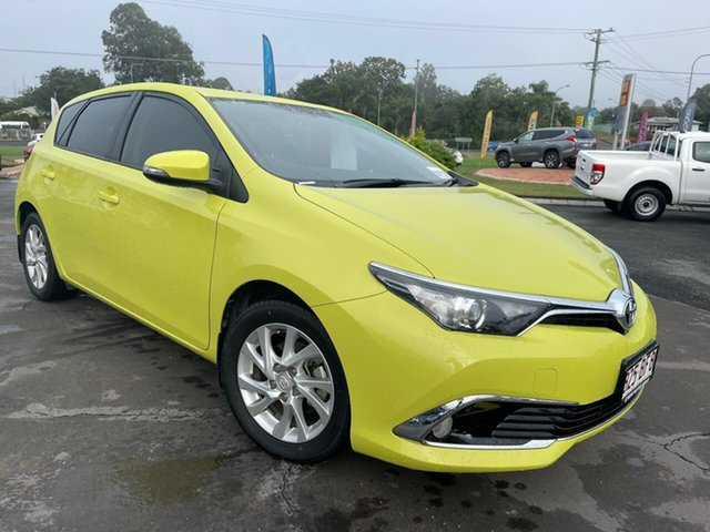 Used Toyota Corolla ZRE182R Ascent Sport S-CVT Gympie, 2016 Toyota Corolla ZRE182R Ascent Sport S-CVT Green 7 Speed Constant Variable Hatchback