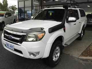 2009 Ford Ranger PJ XLT (4x4) White 5 Speed Automatic Dual Cab Pick-up.