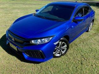 2017 Honda Civic 10th Gen MY17 VTi Blue 1 Speed Constant Variable Hatchback.