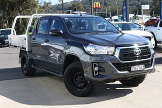 2018 Toyota Hilux GUN126R SR Double Cab Grey 6 Speed Sports Automatic Cab Chassis.